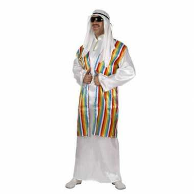 Carnaval  Arabisch kostuum regenboog vest volwassenen
