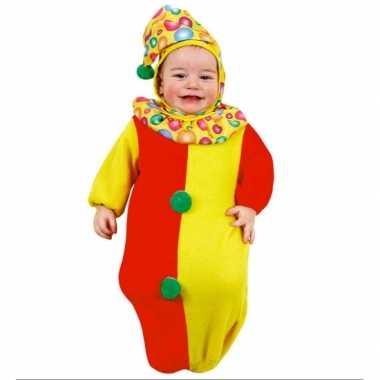 Carnaval  Baby kostuumje clown slaapzakje