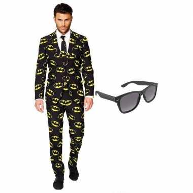 Carnaval batman heren kostuum maat xxxl gratis zonnebril