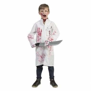Carnaval bebloede doktersjas kinderen maat kostuum