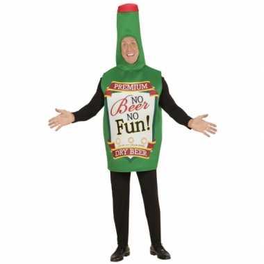 Carnaval bierfles kostuum groen volwassenen