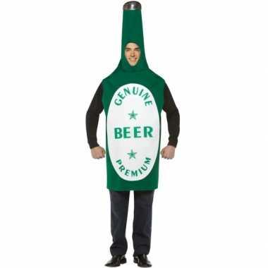 Carnaval bierfles kostuum groen