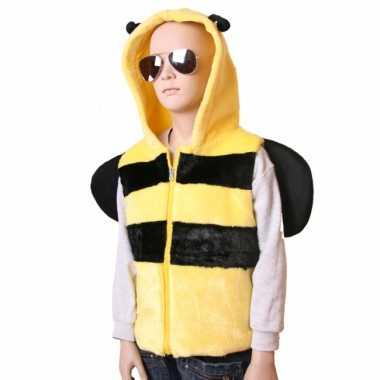 Carnaval bijen vestje capuchon kinderen kostuum