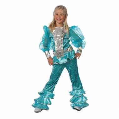 Carnaval  Blauw Abba kostuum kids