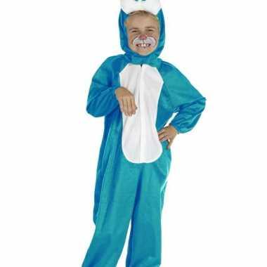 Carnaval  Blauw konijnen kostuum kinderen