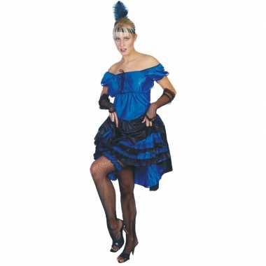 Carnaval  Blauw salsa rokje kostuum