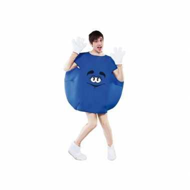 Carnaval  Blauw snoep kostuum volwassenen