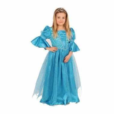 Carnaval  Blauwe prinses kostuum meisjes