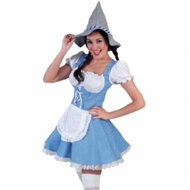 Carnaval  Blauwe tiroler kostuum jurk vrouwen