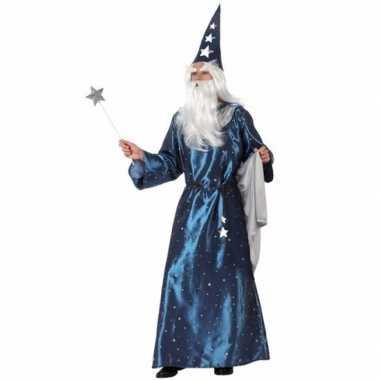 Carnaval  Blauwe tovenaars kostuumken