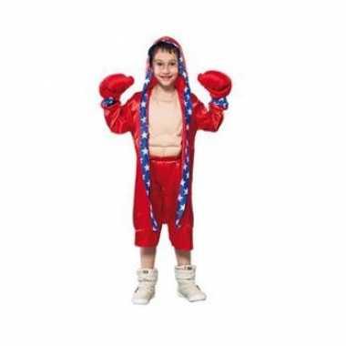 Carnaval  Bokser kostuum kinderen rood