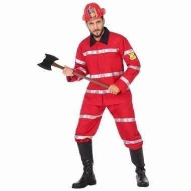 Carnaval brandweerman verkleed kostuum heren