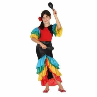 Carnaval braziliaanse samba/rumba danseres verkleed kostuumvoor meisj