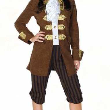 Carnaval  Bruin dames piratenkostuum