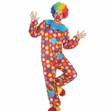 Carnaval clown verkleed kostuum/kostuum heren