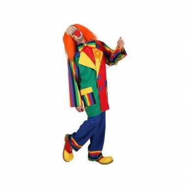 Carnaval clown verkleed kostuum heren