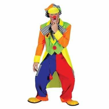 Carnaval  Clown verkleed kostuum mannen