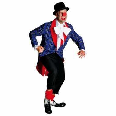 Carnaval  Clowns mantel volwassenen kostuum