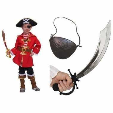 Carnaval compleet kapitein piratenkostuum kinderen