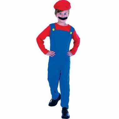 Carnaval  Complete Loodgieter Mario kostuum kinderen