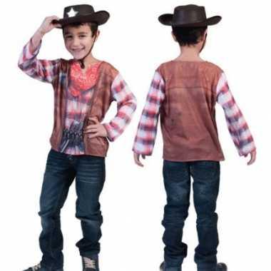 Carnaval  Cowboy t-kostuum kids