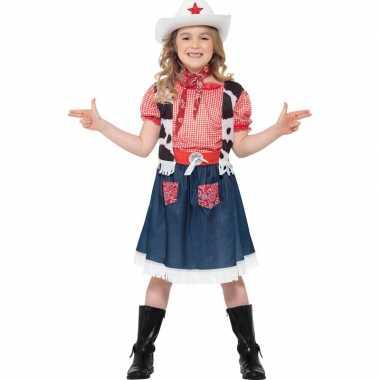 Carnaval cowgirl kinder kostuum
