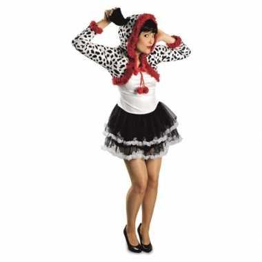 Carnaval dalmatier hond kostuum jurkje dames