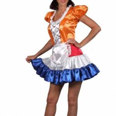 Carnaval dames hollands meisjekostuum jurk