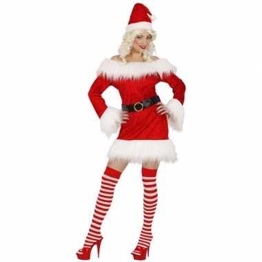 Carnaval  Dames kerstjurkjes fluweel kostuum