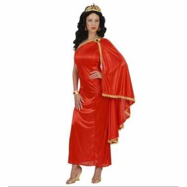 Carnaval dames romeinse keizerinkostuum jurk