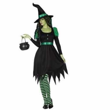 Carnaval delig zwarte heksen kostuum dames
