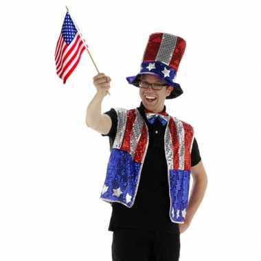 Carnaval  -delige Amerika verkleedset kostuum