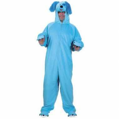 Carnaval  Dieren kostuum blauwe hond volwassenen