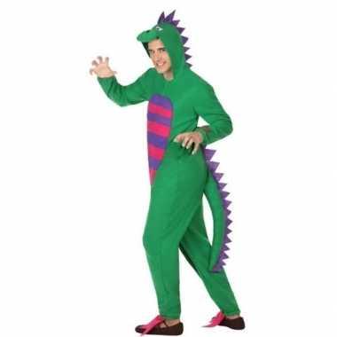 Carnaval dierenkostuum groene draak verkleedkostuum heren