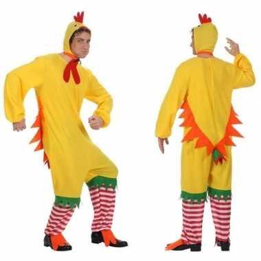 Carnaval dierenkostuum kip/haan/kuiken verkleed kostuum volwassenen