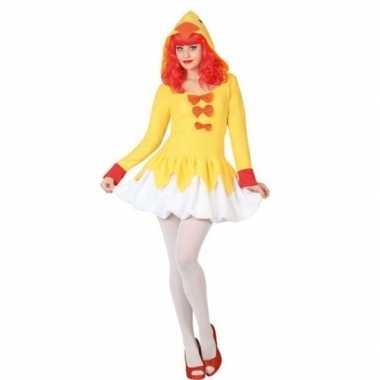Carnaval dierenkostuum kip/kuiken verkleed kostuum jurk/kostuum dames