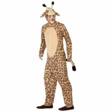 Carnaval dierenkostuum verkleed kostuum giraffe volwassenen