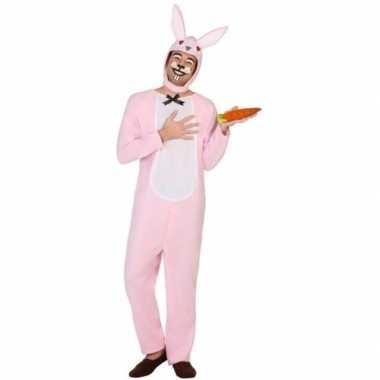 Carnaval dierenkostuum verkleed kostuum paashaas/konijn volwassenen