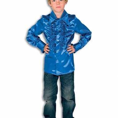Carnaval  Disco kostuum kobaltblauw jongens