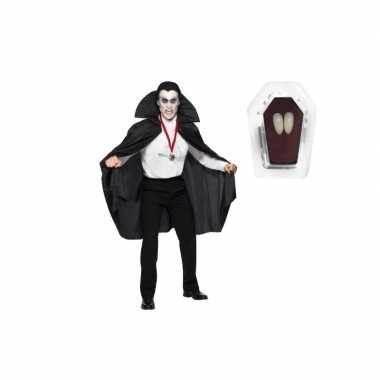 Carnaval dracula kostuum zwart inclusief hoektanden volwassen