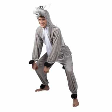 Carnaval ezel dierenkostuum heren