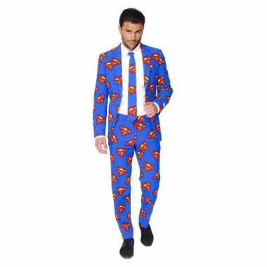 Carnaval feest kostuum superman print