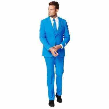 Carnaval  Fel blauw zaken kostuum heren