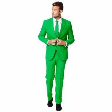 Carnaval  Fel groen kostuum heren