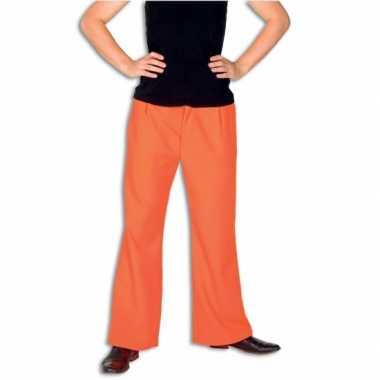 Carnaval fel oranje broek heren kostuum