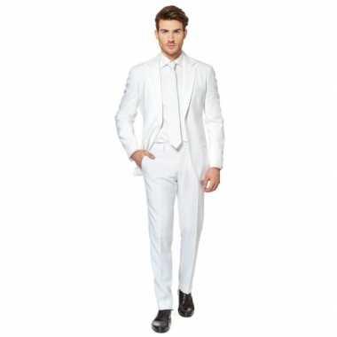 Carnaval  Fel wit kostuum heren