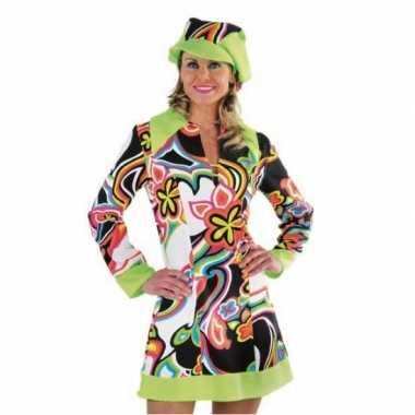 Carnaval  Flower power hippie kostuum jurk dames