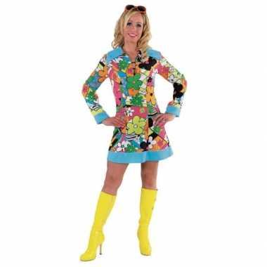Carnaval  Flower Power kleding dames kostuum