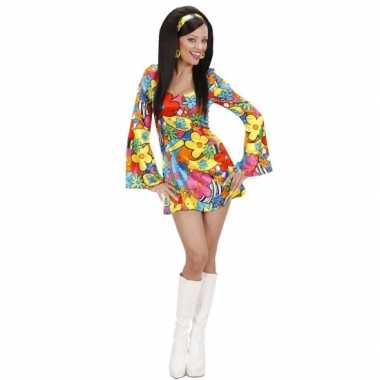 Carnaval  Flower power kostuum jurkje dames