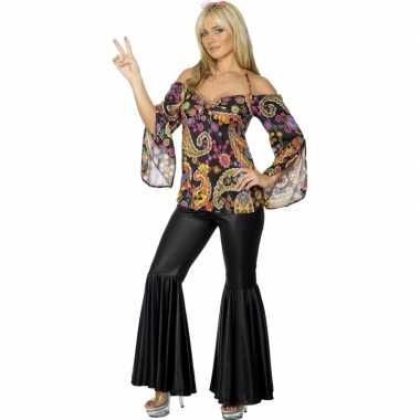 Carnaval  Flower power verkleed kleding dames kostuum